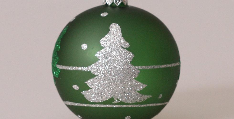 Grantræer 8cm, Grøn transparent 3 stk