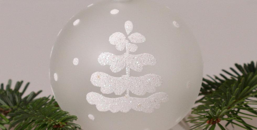 Hvidt træ 10cm, Hvid transparent 4 stk