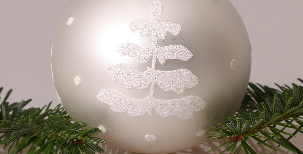 Hvidt træ 10cm, Hvid perlemor 4 stk