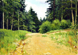 Дорога в горах около Лозанны
