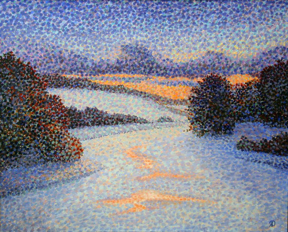 Зимний закат/Winter Sunset