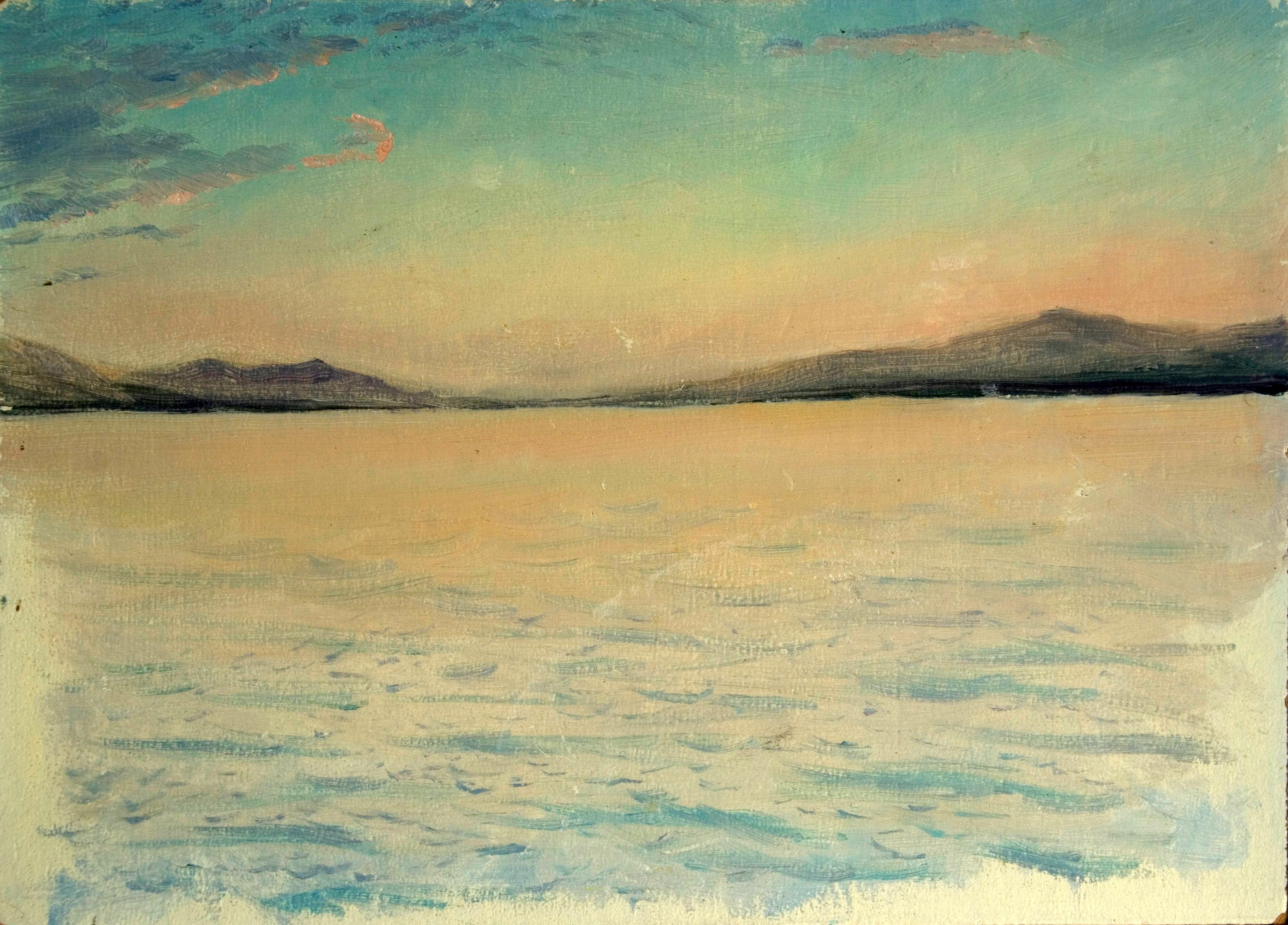 Закат над Женевским озером/Sunset