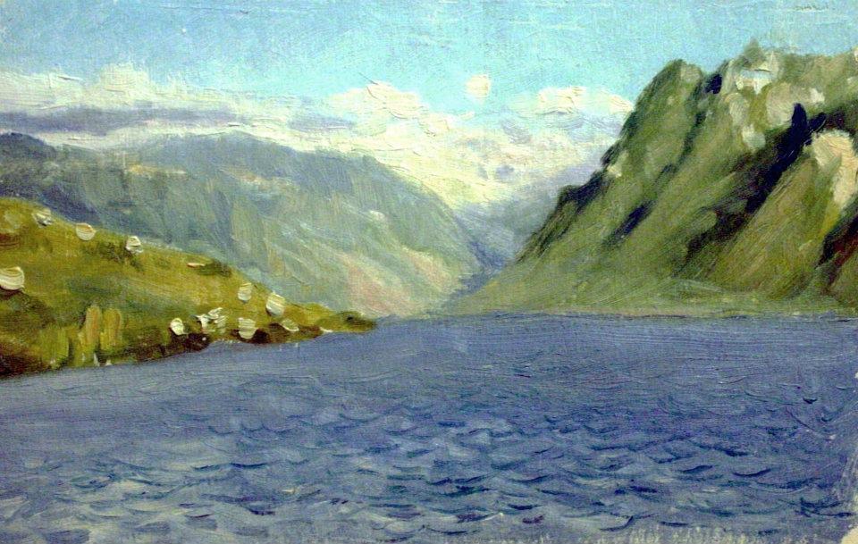 Женевское озеро около Монтрё
