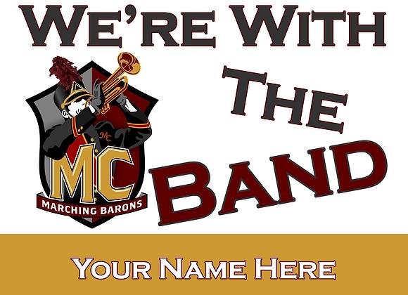 Band Fan Yard Sign