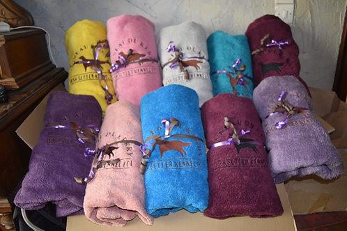 Broderie sur serviette