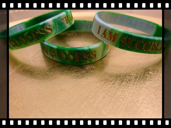I Am Success Green Wristbands