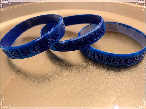 I Am Success Blue Wristbands