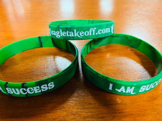 Green-I Am Success Wristbands