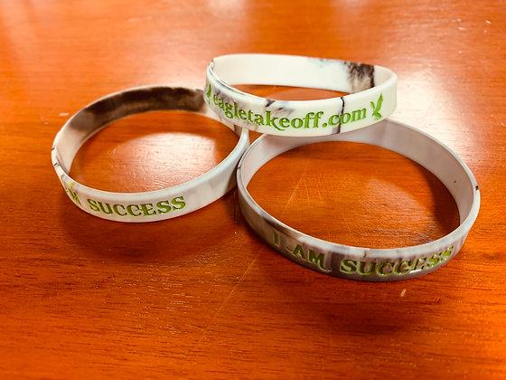 Green/Gray- I Am Success Wristbands