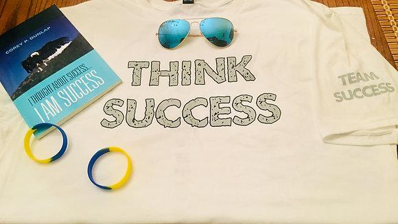 """I Am Success"" Shirt - Gray &  White (NEW)"