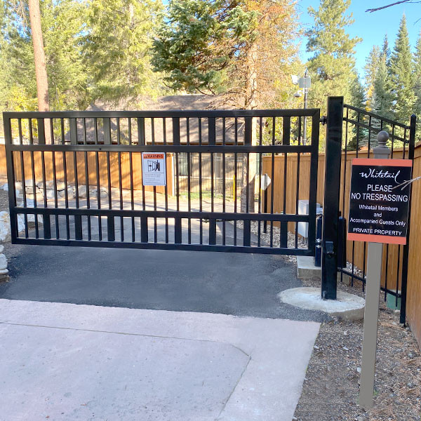 Automated Access Gate Whitetail Resort