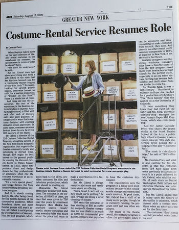 Costume Coll article from Wall St Journa