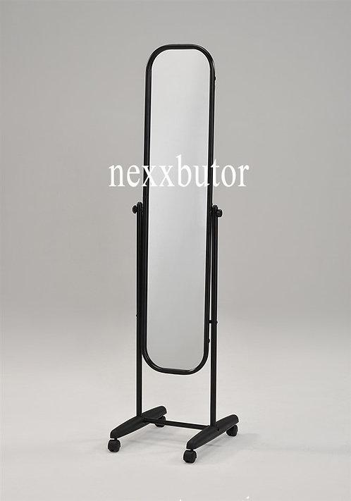 Fém állótükör | 9101A | fekete görgős tükör| tükrök nexxbutor