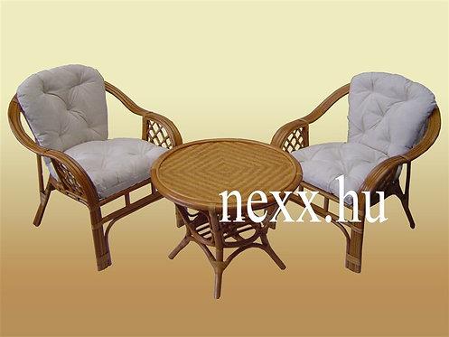 Rattan fotel + asztal   LF-202WBN-3* BARNA szín   rattan teázó