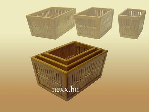 Bambusz kosár, 501 szett, bambusz kosár bútor, Nexx Bútor