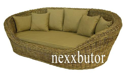 Rattan szófa | LF-GREY BED | rattan kanapé| rattan bútor