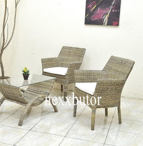 Rattan fotel + asztal | Marksmen teázó | rattan bútor