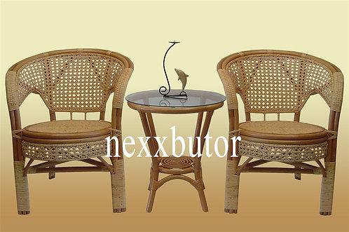 Rattan szék + asztal |  J-1013+J-2008 teázó | rattan bútor
