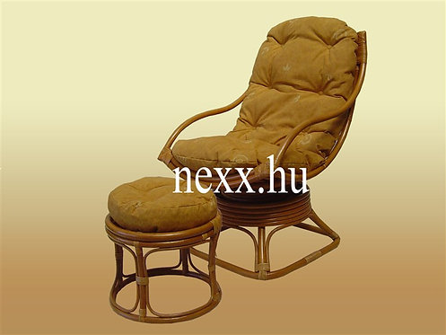 Rattan forgó  fotel puff   SR-77WXN-1A+LF-1003   rattan bútor