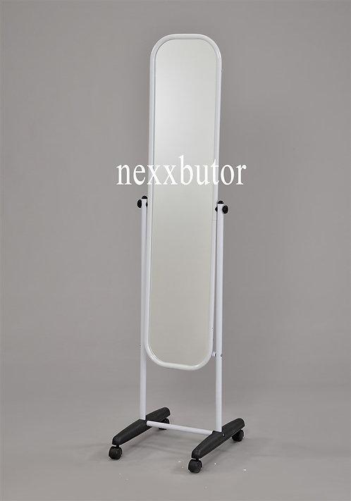 Fehér állótükör | 9101W | fehér görgős tükör | állótükör nexxbutor