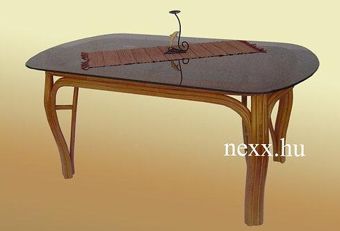 Rattan étkező asztal, TF-10124TGWX,  rattan üveges asztal