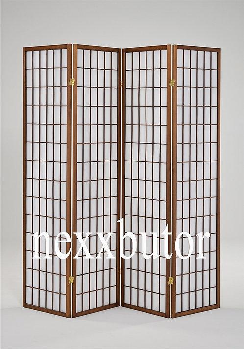 Paraván | 4621-4WB | 4 paneles paraván |  barna  paraván nexxbutor