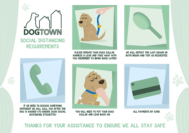 Social Distancing Poster for Dog Groomers