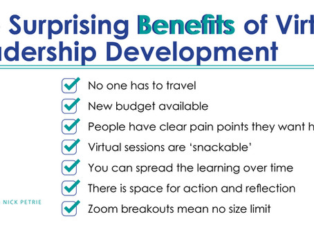 The Surprising Benefits of Virtual Leadership Development