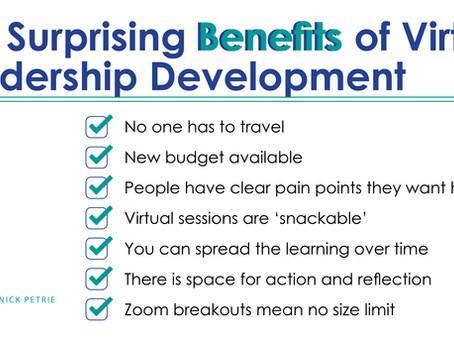 The Surprising Benefits of Virtual Leadership Development