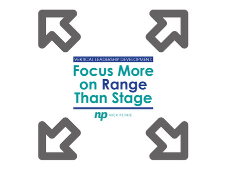Focus More on Range than Stage