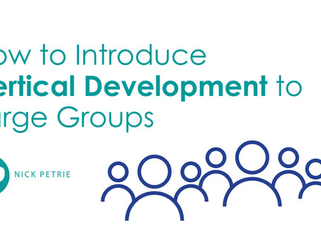 How to Intro Vertical Development to Large Groups