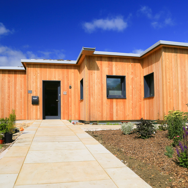 CLT with Larch Cladding