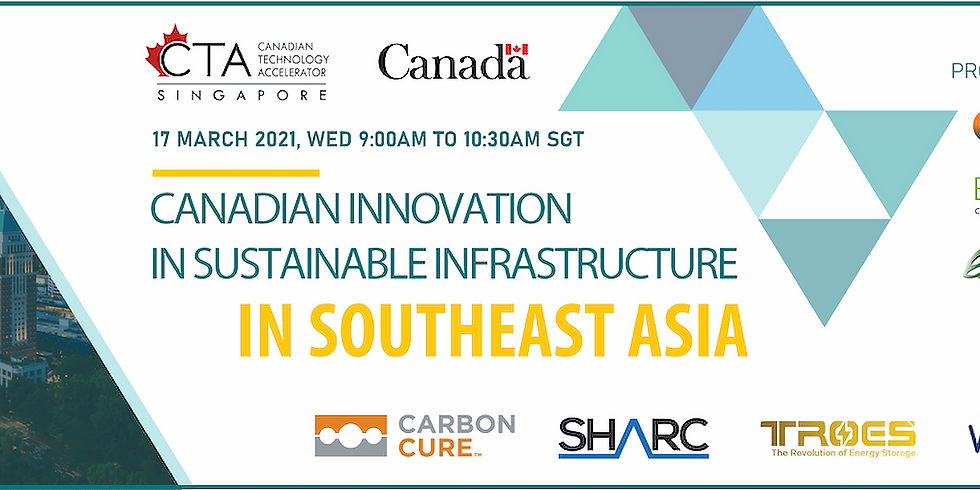 Canadian Technology Accelerator's Canadian Innovation in Sustainable Infrastructure in Southeast Asia Virtual Event
