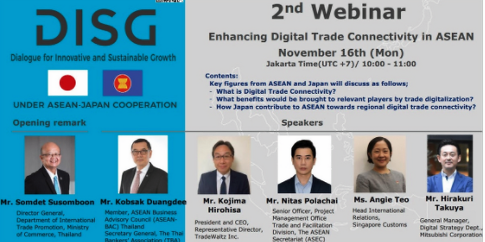 Enhancing Digital Trade Connectivity in ASEAN. Dialogue for Innovative and Sustainable Growth #2