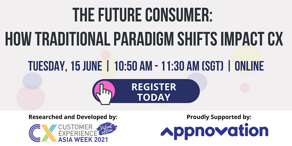 The Future Consumer: How Traditional Paradigm Shifts Impact CX