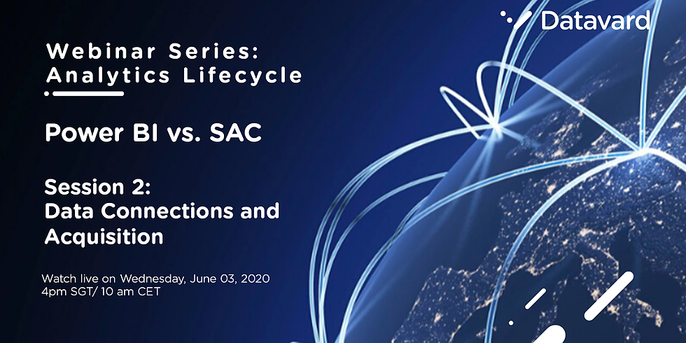 Analytics Lifecycle Session 2: Data Connections & Acquisitions