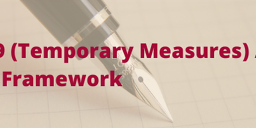 Understanding the Re-Align Framework under the COVID-19 (Temporary Measures) Act 2020 - 13 Jan 2021