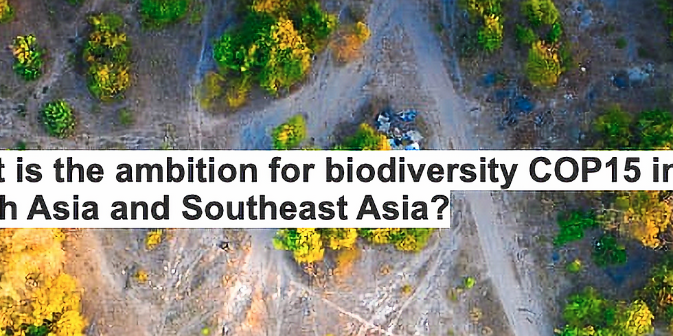 What is the ambition for biodiversity COP15 in South Asia and Southeast Asia?