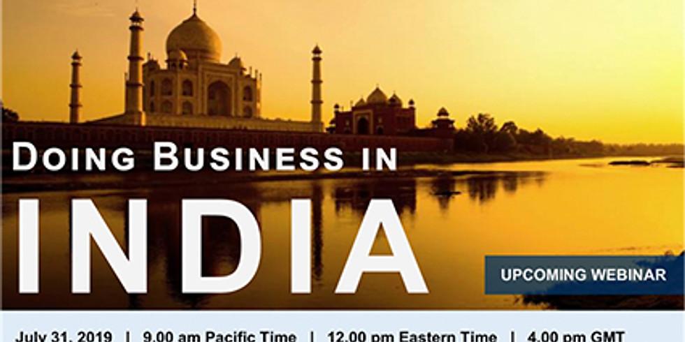 Tractus Webinar: Doing Business in India