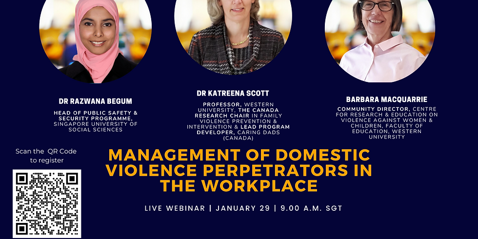 GenSafe Workplaces - Specialist Webinar 2 - Management of Domestic Violence Perpetrators in the Workplace