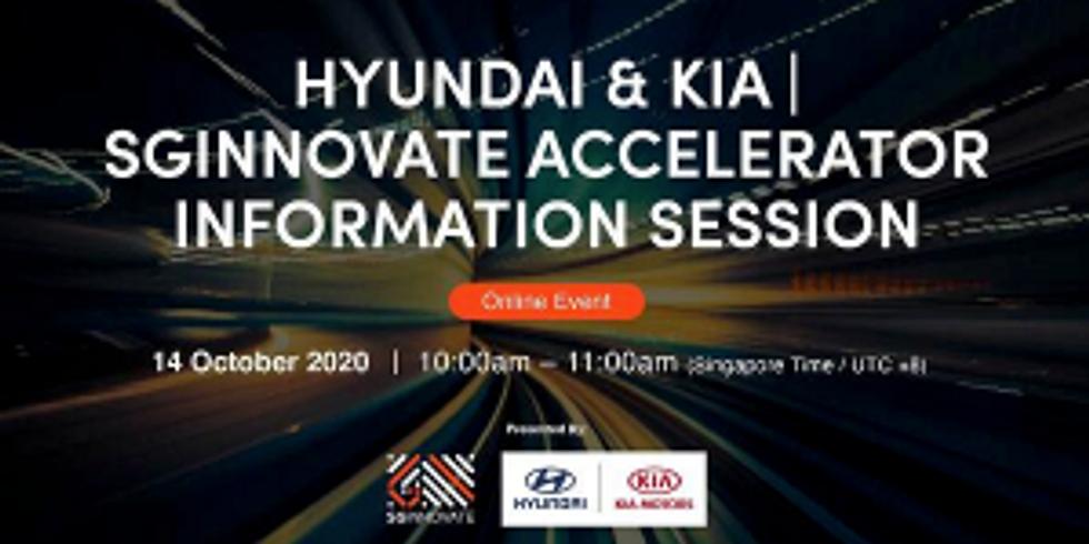Hyundai & Kia   SGInnovate Accelerator Information Session