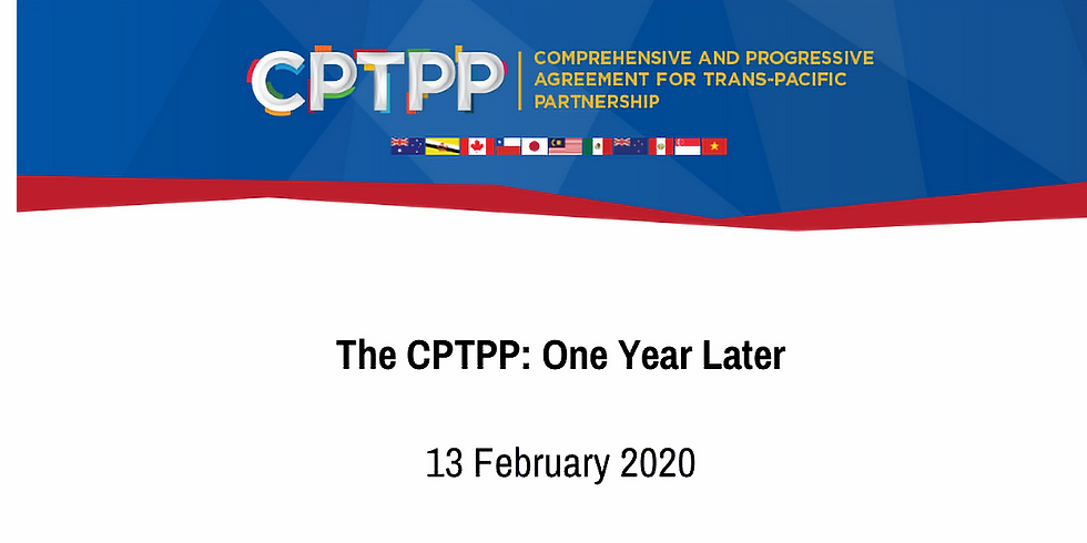 The CPTPP: One Year Later