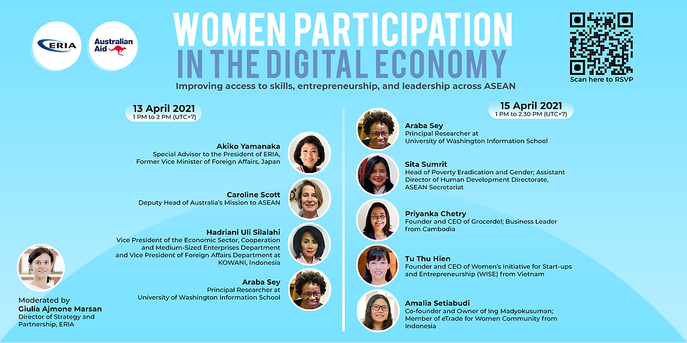 Women Participation in the Digital Economy: Improving Access to Skills, Entrepreneurship, and Leadership Across ASEAN