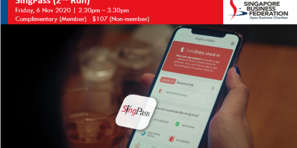 2nd Webinar on empowering your business with SingPass