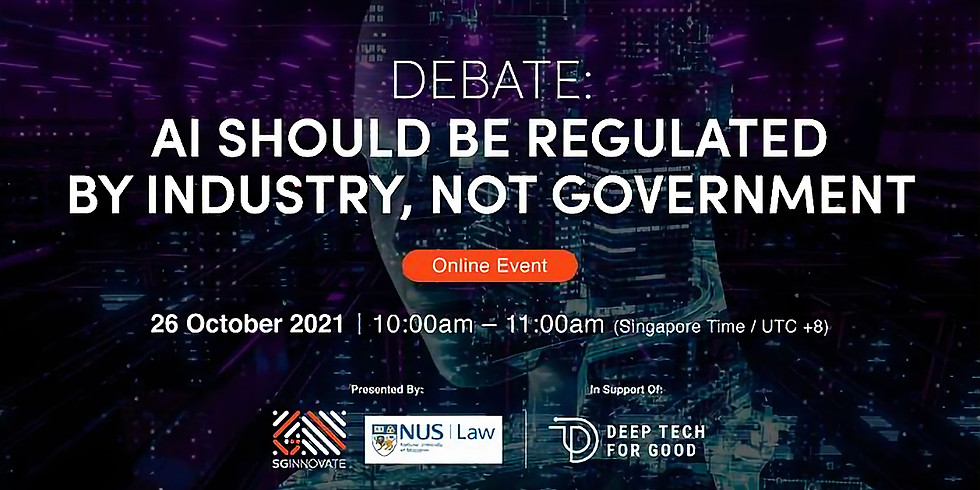 Share this with your network!     Debate: AI Should Be Regulated by Industry, Not Government