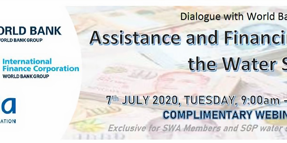 Assistance & Financing for the Water Cluster