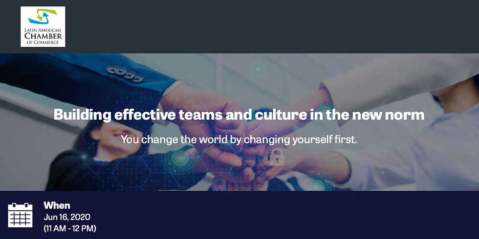 Building effective teams and culture in the new norm