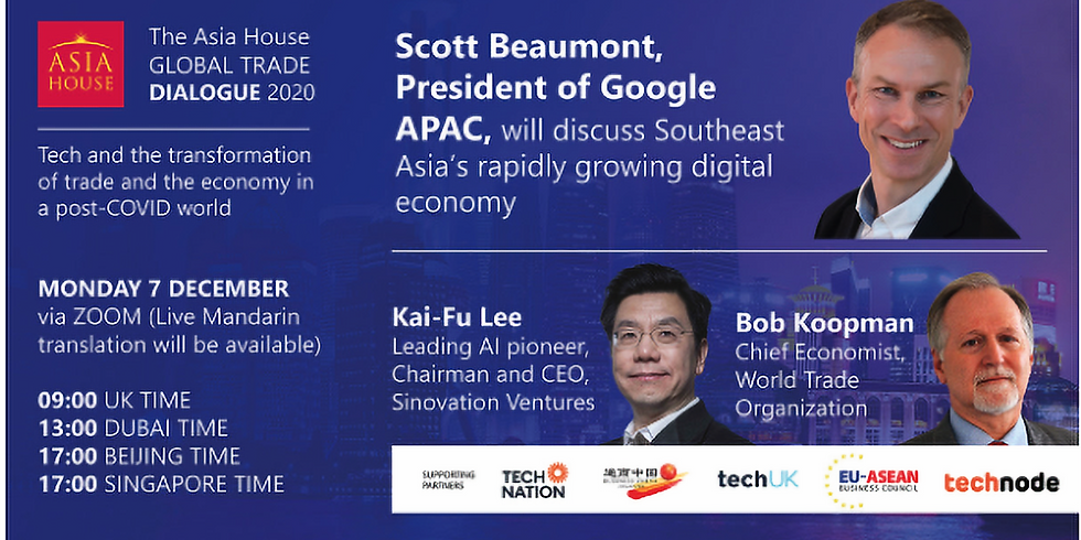 Google APAC President Scott Beaumont to join the Asia House Global Trade Dialogue 2020