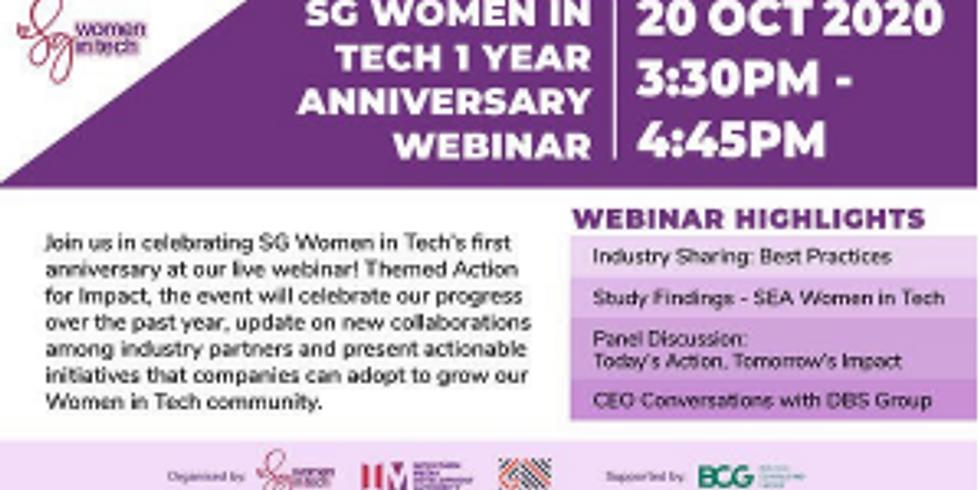 SG Women in Tech 1 Year Anniversary