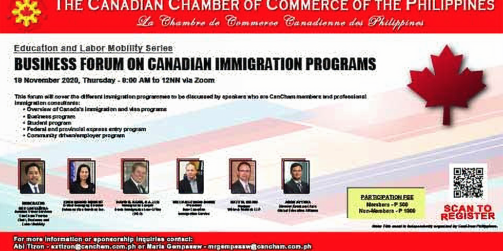 Education and Labor Mobility Series:  Business Forum on Canadian Immigration Programs